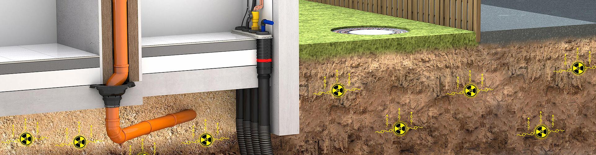 Radon-safe construction